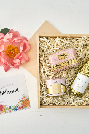 Will You Be My Bridesmaid Mini Gift Crate