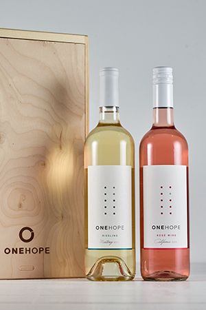 2-Bottle Wood Gift Box  - CA Rosé & Riesling