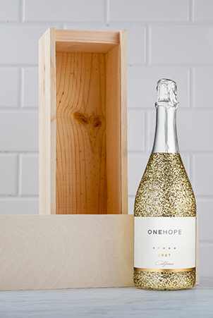 Glitter Edition Single Bottle Wood Box