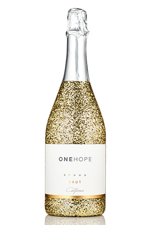 California Sparkling Brut Gold Glitter Bottle