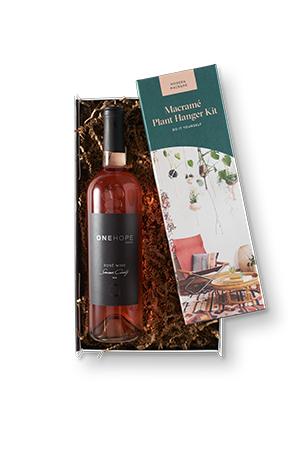 Rosé and Macrame Gift Box