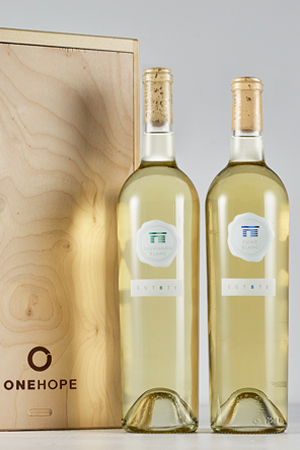 2-Bottle Wood Gift Box - Estate Fumé Blanc & Sauvignon Blanc