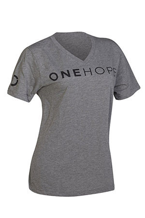 Unisex Light Grey V-Neck Tee